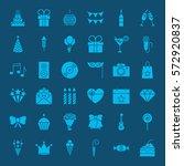birthday glyphs website icons.... | Shutterstock .eps vector #572920837