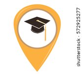 isolated graduation hat on a... | Shutterstock .eps vector #572925277