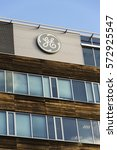 Small photo of PRAGUE, CZECH REPUBLIC - FEBRUARY 5: General Electric company logo on the headquarters building on February 5, 2017 in Prague, Czech republic. GE moves tax staff to an outside accounting firm.