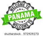 panama. welcome to panama stamp | Shutterstock .eps vector #572929273