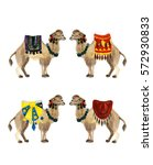 watercolor cute camel sketch... | Shutterstock . vector #572930833