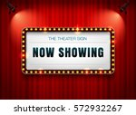 theater sign on curtain | Shutterstock .eps vector #572932267
