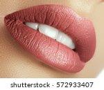 perfect natural lip makeup.... | Shutterstock . vector #572933407