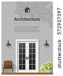 elements of architecture  ... | Shutterstock .eps vector #572937397