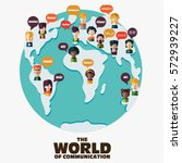 Set Of Social People On World...