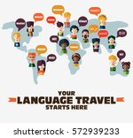 set of social people on world... | Shutterstock .eps vector #572939233