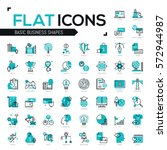 big bundle of modern icons in... | Shutterstock .eps vector #572944987