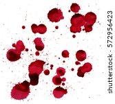 splashes of blood. vector image ... | Shutterstock .eps vector #572956423