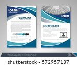 blue annual report brochure... | Shutterstock .eps vector #572957137