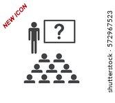 presentation icon vector flat... | Shutterstock .eps vector #572967523