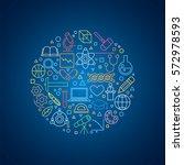 vector all sciences concept... | Shutterstock .eps vector #572978593