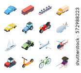 transportation set icons in... | Shutterstock .eps vector #572988223
