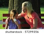 loving mother watching her... | Shutterstock . vector #57299356