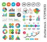 business charts. growth graph.... | Shutterstock .eps vector #572993653