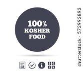 100  kosher food product sign... | Shutterstock .eps vector #572993893