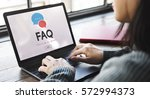 frequently asked questions... | Shutterstock . vector #572994373