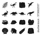 dinosaurs and prehistoric set... | Shutterstock .eps vector #573002557