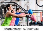 functional fitness workout in... | Shutterstock . vector #573004933