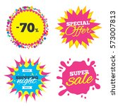 sale splash banner  special... | Shutterstock .eps vector #573007813