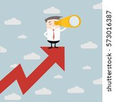 illustration of a businessman... | Shutterstock .eps vector #573016387