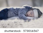 cute little baby sleeping... | Shutterstock . vector #573016567