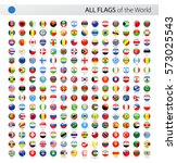 round world flags vector... | Shutterstock .eps vector #573025543