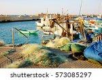 fishing boats in old jaffa port ...   Shutterstock . vector #573085297
