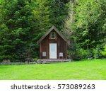little house in the prairie.    ... | Shutterstock . vector #573089263