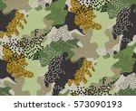 camouflage seamless pattern in... | Shutterstock .eps vector #573090193