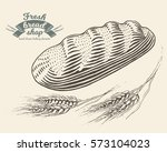 hand drawn bread bakery in... | Shutterstock .eps vector #573104023