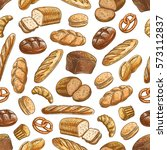 color sketch bread sorts...   Shutterstock .eps vector #573112837