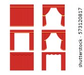 set of red curtains to theater  ... | Shutterstock .eps vector #573120817