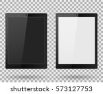 tablet with buttons black and... | Shutterstock .eps vector #573127753