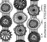 seamless scandinavian pattern... | Shutterstock . vector #573129583