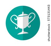 simple flat design trophy icon...