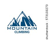 mountain climbing vector icon.... | Shutterstock .eps vector #573133273