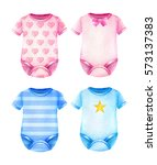baby clothes. boys and girls... | Shutterstock . vector #573137383