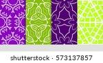 set of floral ornament.... | Shutterstock .eps vector #573137857