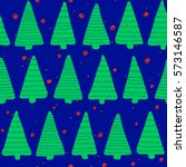 christmas seamless pattern.... | Shutterstock . vector #573146587