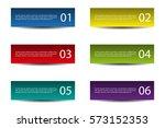 header designs with numbers   Shutterstock .eps vector #573152353