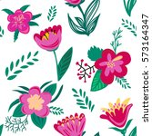 seamless floral pattern. spring ... | Shutterstock . vector #573164347