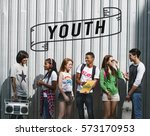 entertainment music teenagers... | Shutterstock . vector #573170953