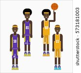 basketball player team... | Shutterstock .eps vector #573181003