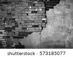 Old Wall With Bricks And Stucc...