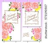 vintage delicate invitation... | Shutterstock . vector #573190507