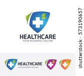 health care  shield  blue  plus ... | Shutterstock .eps vector #573190657