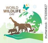 World Wildlife Day, March 3 | Shutterstock vector #573200827