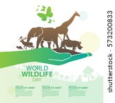 world wildlife day  march 3 | Shutterstock .eps vector #573200833
