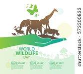 World Wildlife Day, March 3   Shutterstock vector #573200833
