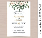 save the date wedding... | Shutterstock .eps vector #573206047